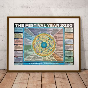 The Festival Year 2020 poster in a frame