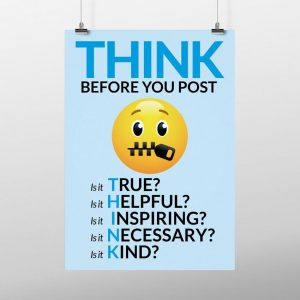 Emoji think before you post